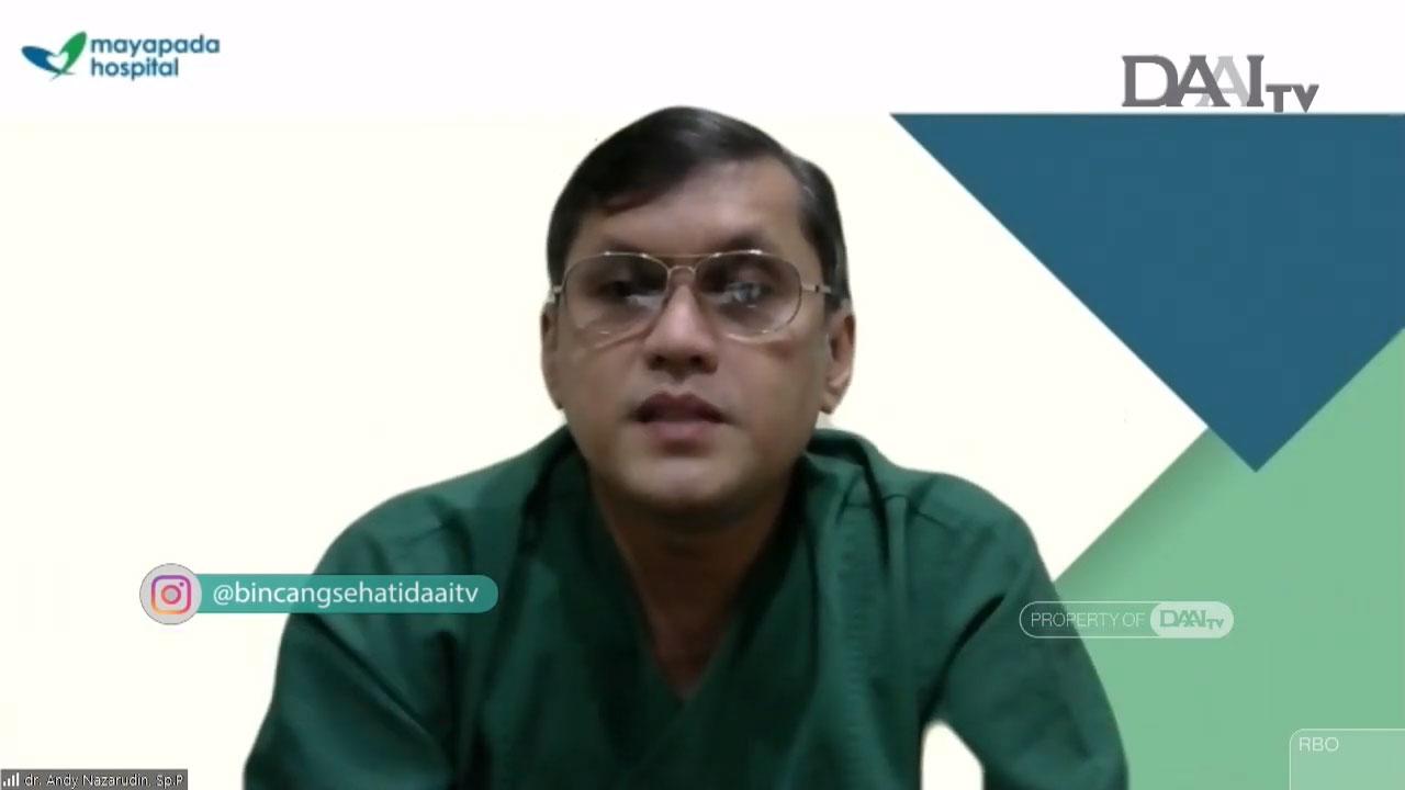 dr. Andy Nazarudin, Sp. P, spesialis paru, menjelaskan beberapa kondisi pasien dengan Long Covid yang diperbolehkan menjalani ibadah puasa. (Sumber : Youtube/Bincang Sehati DAAI TV)